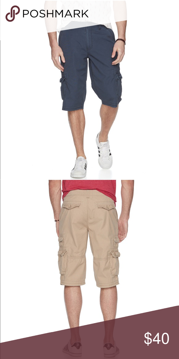 1568e5c02a Urban Pipeline Messenger Cargo Shorts Navy New Did you get the message?  These men's Urban Pipeline cargo shorts are a must-have.
