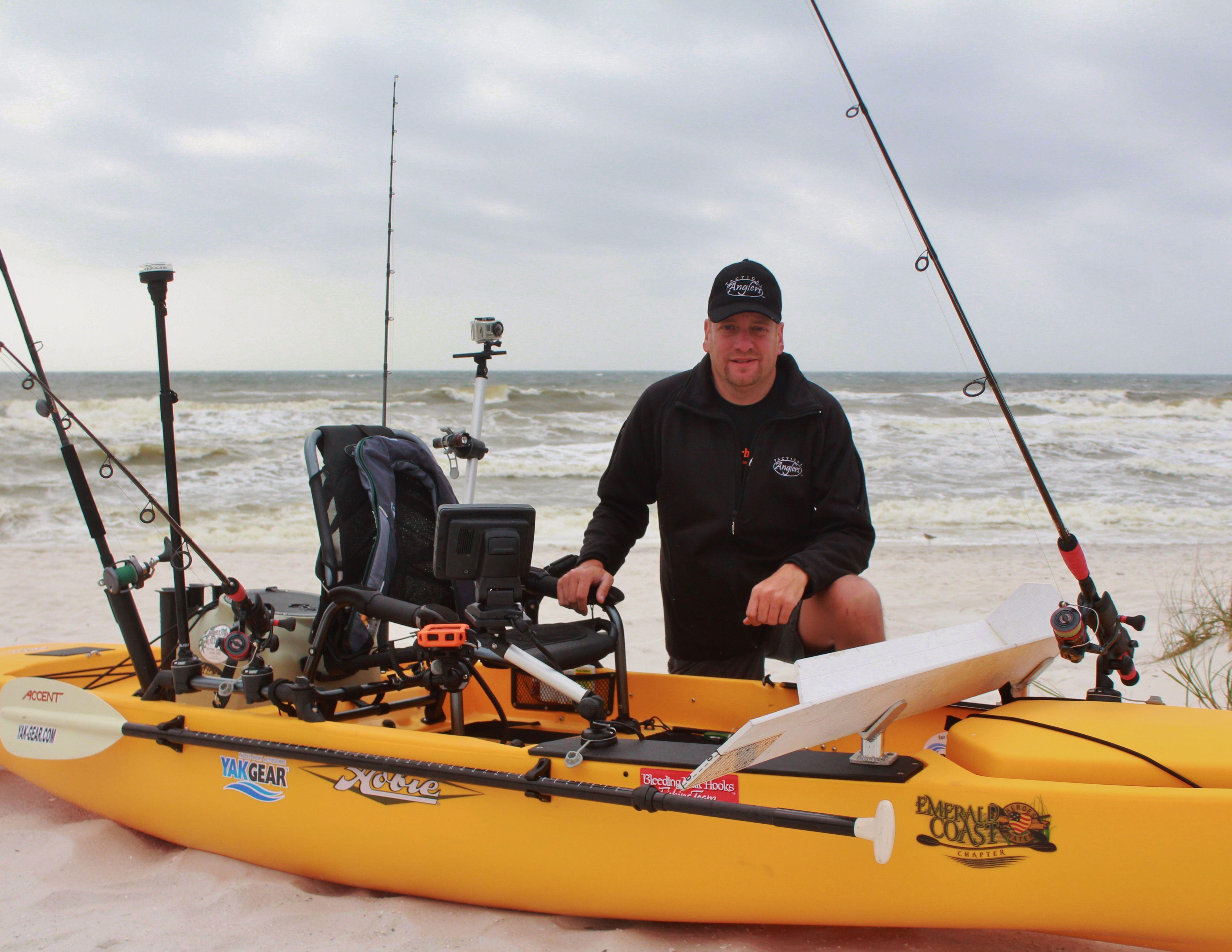 Barrett Rigged His Hobie Kayak With Yak Gear And Railblaza