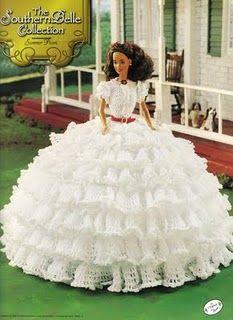 CROCHES E ARTESANATOS: Roupas da Barbie em croche,