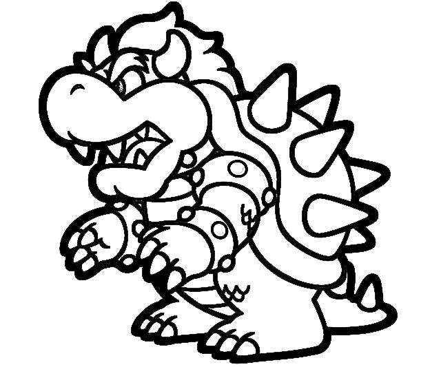 Kleurplaten Super Mario 3d Land.Printable Super Mario 3d Land Bowser Characters Coloring Pages