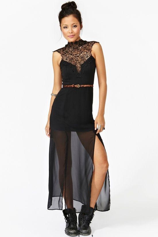 Tied Crochet Maxi Dress