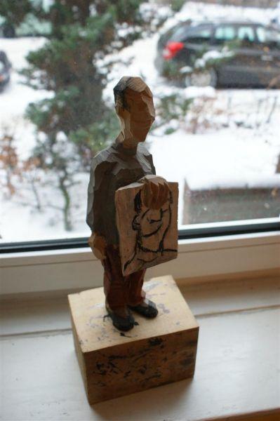 selbstbildnis holzskulpturen holzskulptur skulpturen spanische künstler moderne acrylbilder modern abstrakt