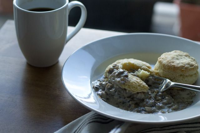 Biscuits and Mushroom Gravy | earnesteating.com