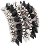 SPIKE BRACELET (BLACK AND SILVER) from AahStyle.com