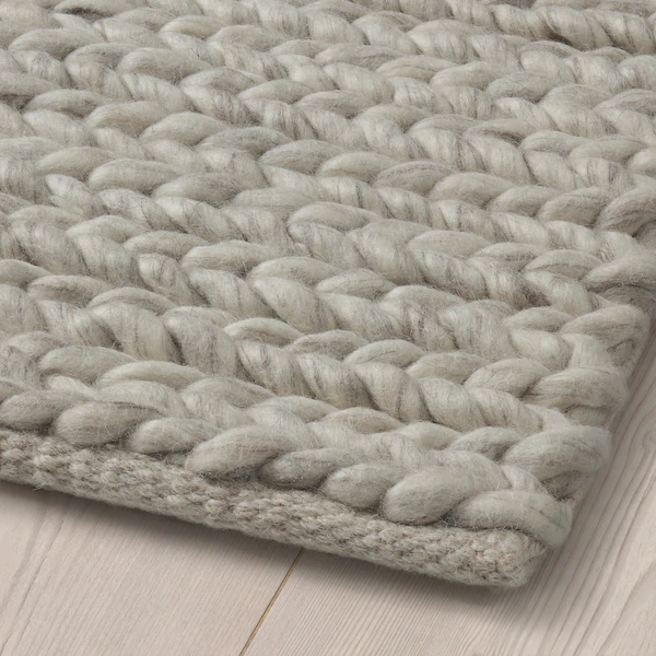 Hjortsvang Rug Handmade Off White Ikea Rugs On Carpet Diy Carpet Braided Rug Diy