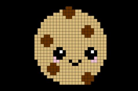 Cookie Pixel Art Dessin Pixel Pixel Art Nourriture Et