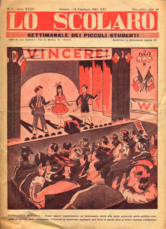 Revista escolar italiana, 1943.