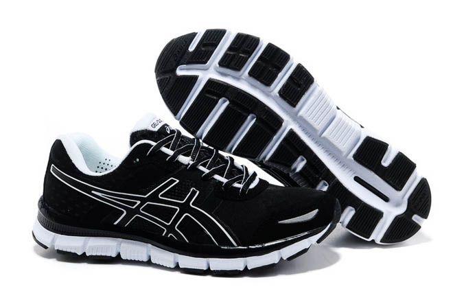 Mens Asics Gel Quik 33 Black White Shoe