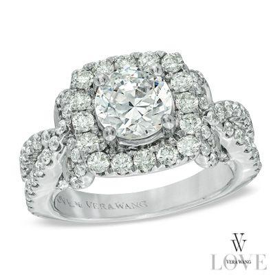 Vera Wang Love Collection 2 Ct T W Diamond Split Shank