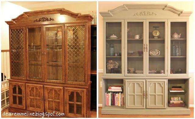 Dear Emmeline China Cabinet Turned Farmhouse Style Pantry Farmhouse Style Pantry Redo Painted China Cabinets