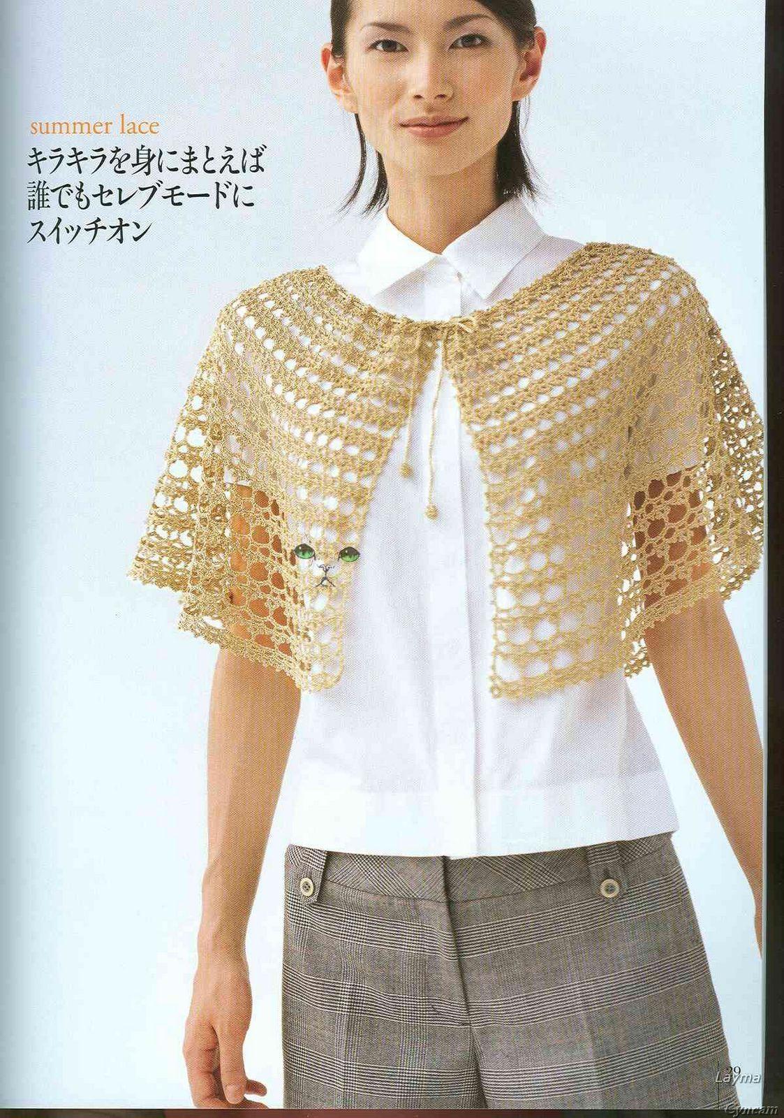 PATRONES GRATIS DE CROCHET: Patrón gratis de un bello poncho o capa ...