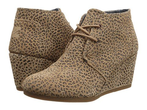 596d7d57ff4 TOMS Desert Wedge Cheetah Suede Printed - Zappos.com Free Shipping BOTH  Ways size 10