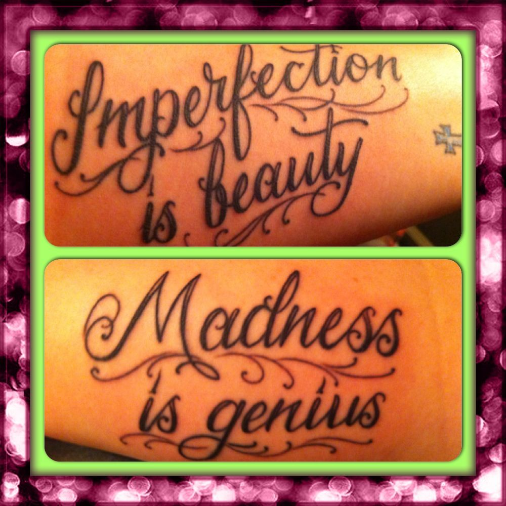 Marilyn Monroe Quote As Tattoo