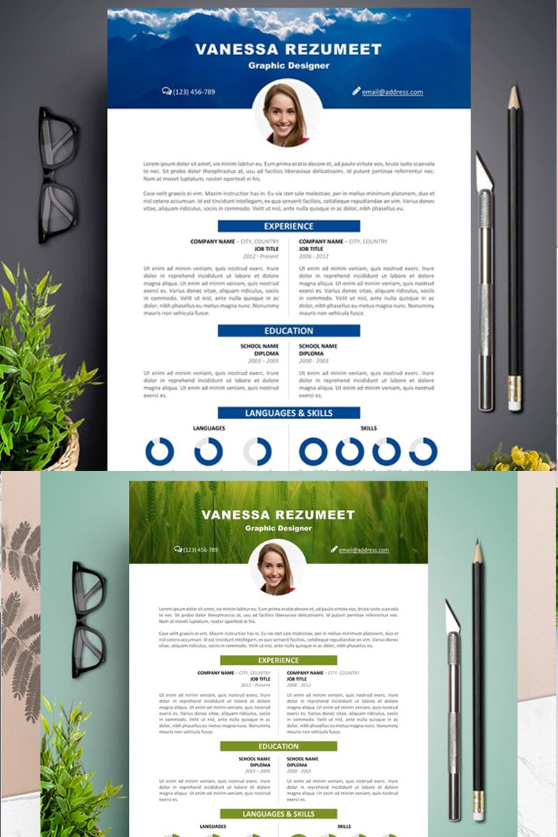 Creative and Modern Resume, Resume Template, Resume CV Template for ...