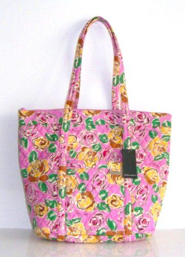 Laura Ashley Painterly Rose Handbag Pink Quilted Tote Shopper Baby ... : quilted tote bags cheap - Adamdwight.com