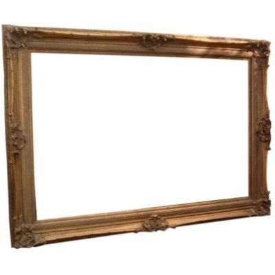 "Massive Rococo Gilt Picture Frame Internal  48"" x 72""  from www.ayersandgraces.com"