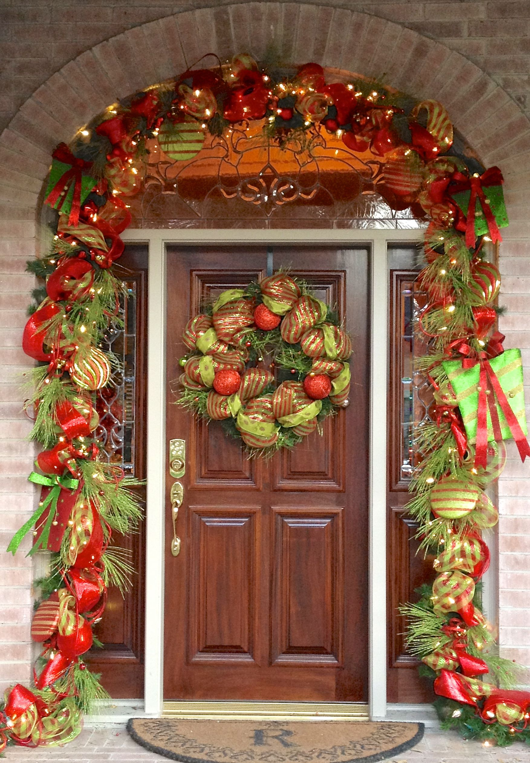 Front Door Decor A Floral Touch Christmas Entry Christmas Door Decorations Outdoor Christmas Decorations