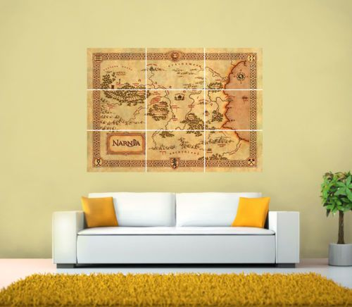 THE-CHRONICLES-OF-NARNIA-GIANT-MAP-POSTER-Various-sizes-from-A3-up-to-126x89-1cm