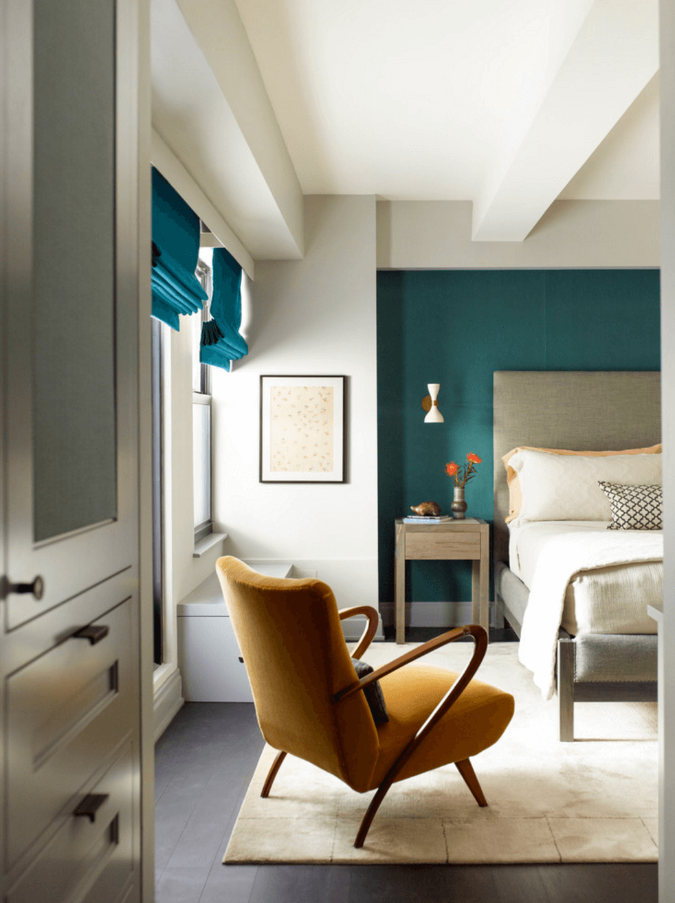 Feature Wall Ideas to Showcase Your Style | Colors | Teal accent ...