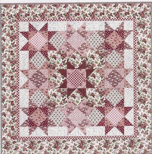 Star Garden Quilt Pattern by Lakehouse Quilts