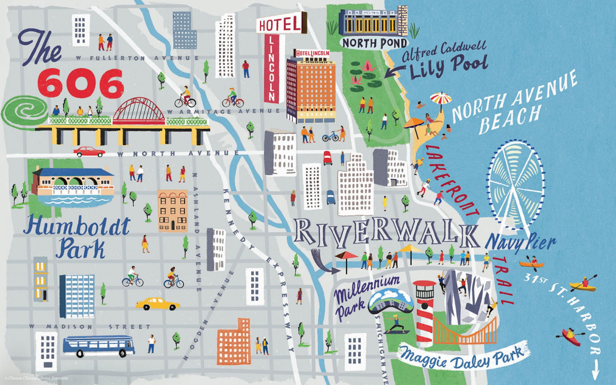 Riverwalk Chicago Map.View Full Size Map Urban Explorer 3 Day Chicago Itinerary Chicago