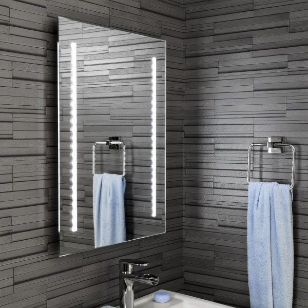 Ceramica Mirror With Battery Powered Led Lights Bathroom Mirror Bathroom Mirror Lights Modern Bathroom Mirrors