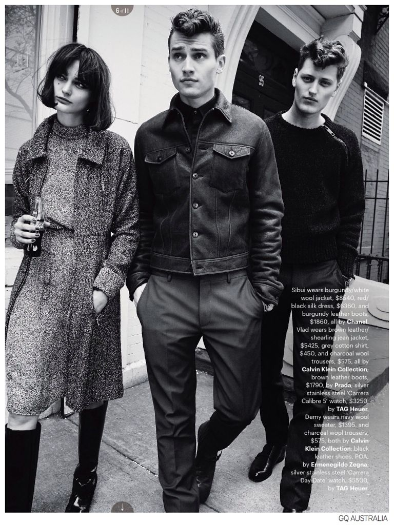 Vladimir Ivanov + Demy Matzen Model 60s Inspired Fashions for GQ Australia