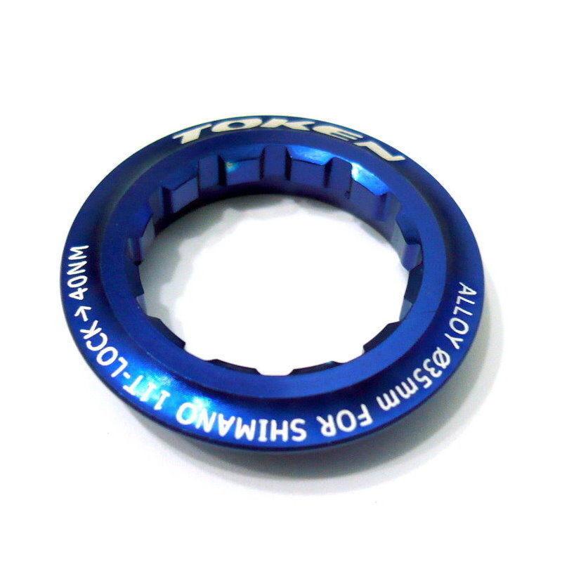 008 gobike88 TOKEN Lock Ring for Shimano Cassette 11T Blue