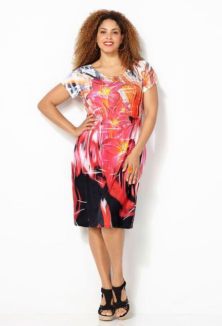 Floral Sublimation Dress Plus Size Dress Avenue Plus Size Fashion