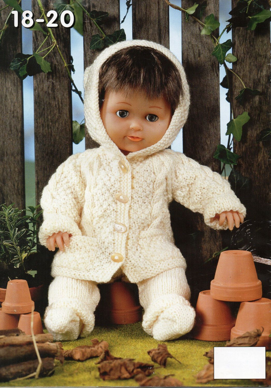 baby dolls clothes knitting pattern pdf dolls cable hooded coat ...