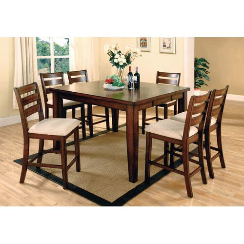Enjoyable Pristine 7 Piece Counter Height Extendable Dining Set In Beatyapartments Chair Design Images Beatyapartmentscom