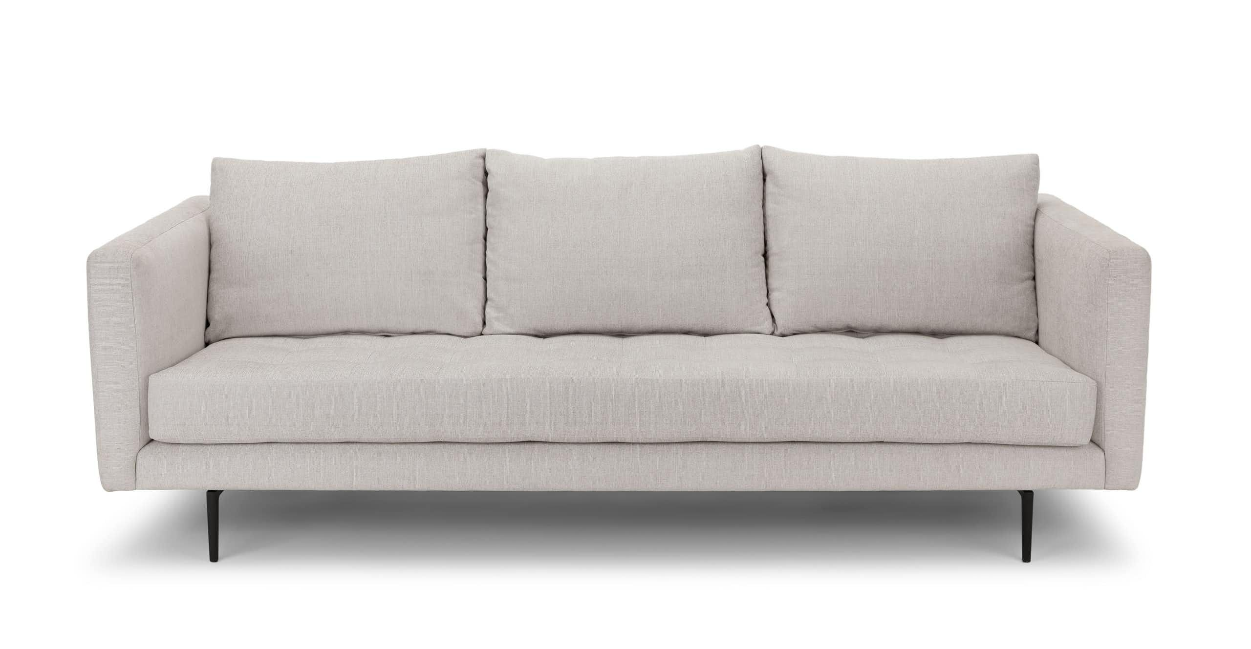 Terrific White Tufted Sofa 3 Seater Upholstered Article Parker Pdpeps Interior Chair Design Pdpepsorg