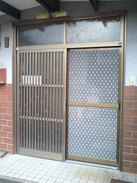 旧式玄関引戸用網戸 上吊り式玄関網戸 ヤフオク 玄関引戸