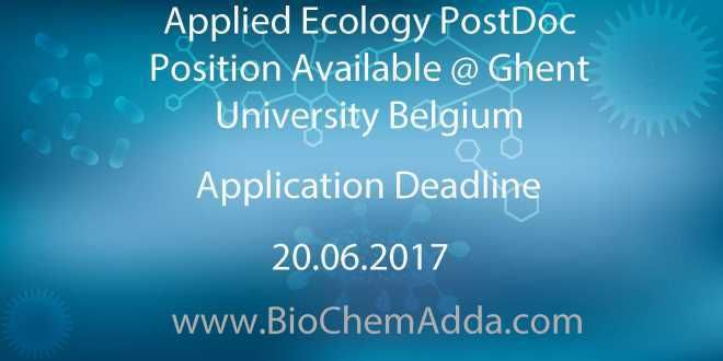 Applied Ecology PostDoc Position Available @ Ghent