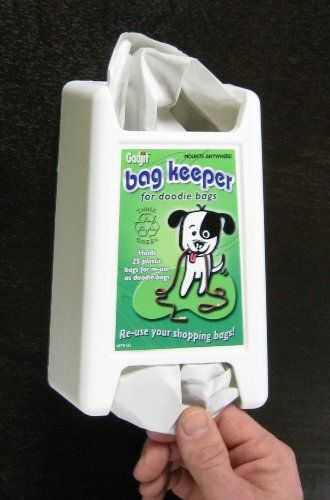 Doodie Dog Poop Bag Keeper White ** Visit the image link more details.