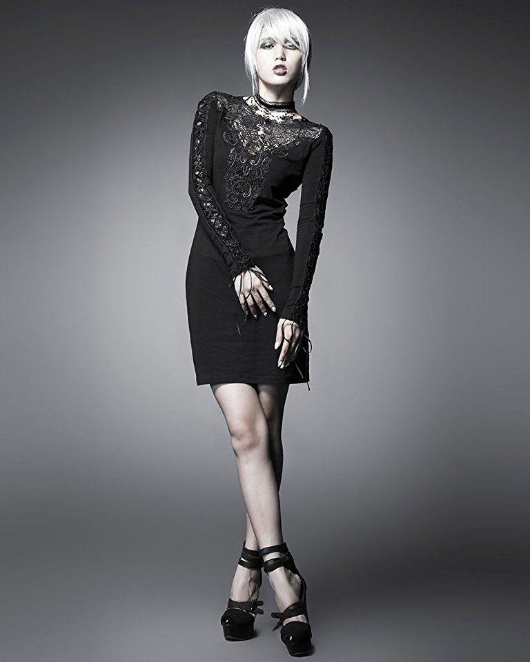 Shoppen Sie Rave Gothic Punk Steampunk Nightingale Kleid schwarz ...