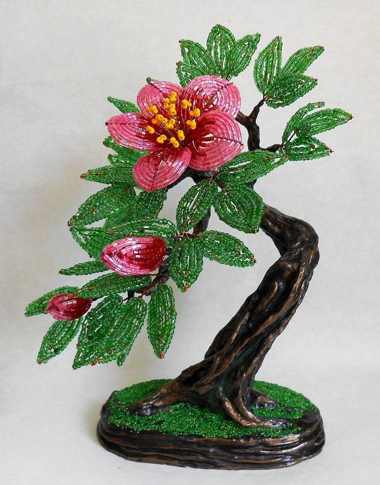 Картинки из бисера деревьев и цветов