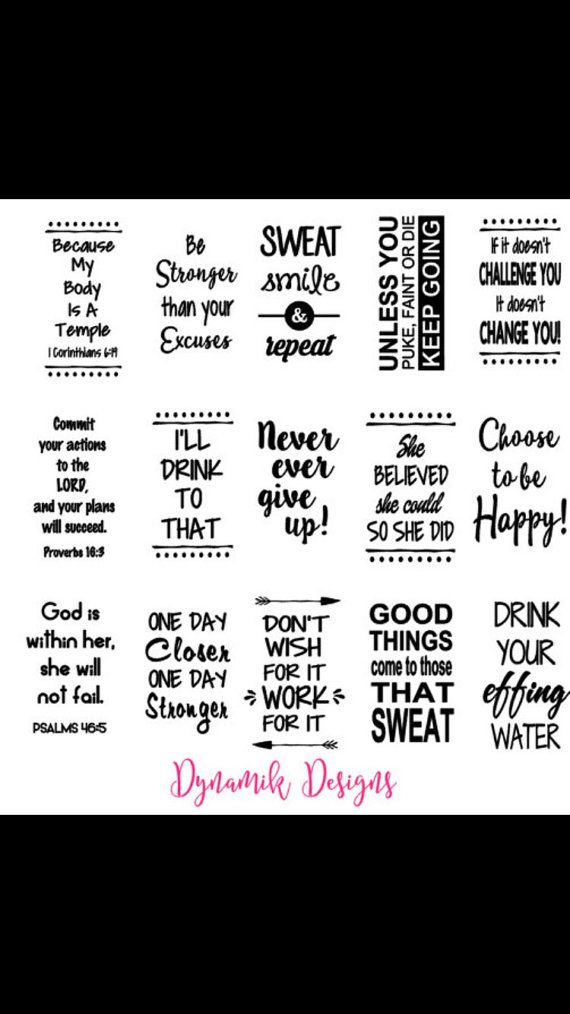 Vinyl Decals For Water Bottles Vinyl Decals Motivational - Custom vinyl decal application instructions pdfcare and instructions es signs