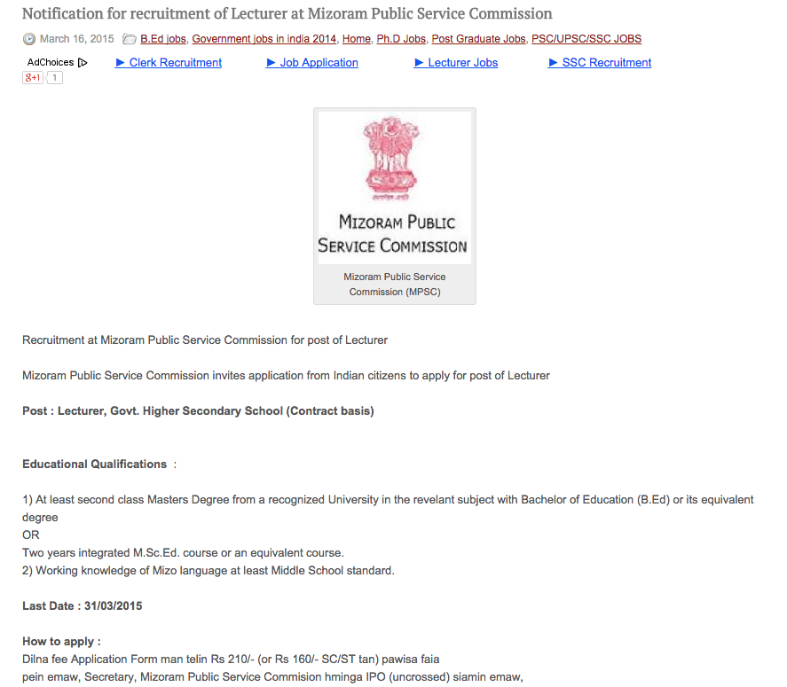 Notification For Recruitment Of Officers And Office Assistants At