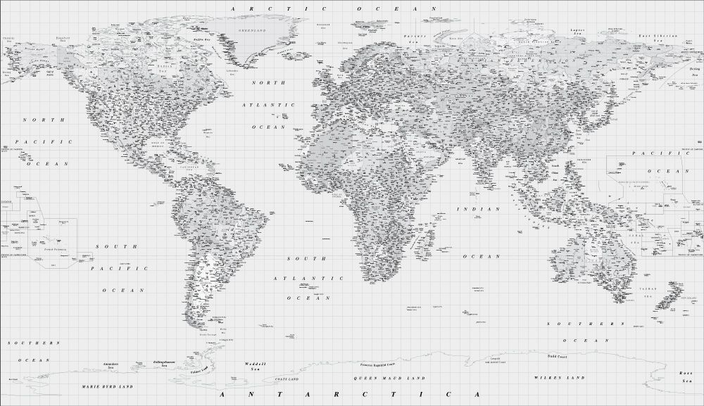 Black and white world map wall mural travel3 pinterest wall black and white world map wall mural gumiabroncs Choice Image