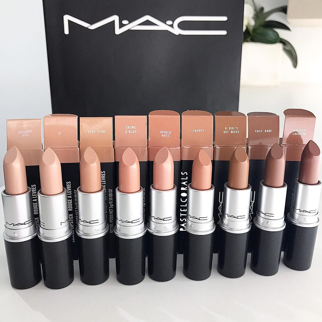"""Photo of Annie on Instagram: """"I'm frothing over all these nudes!!!! 😍😍😍😍launching this Thursday in store alongside with 2 @nickiminaj lip colors 🙌🏻💕 #maccosmetics…"""""""