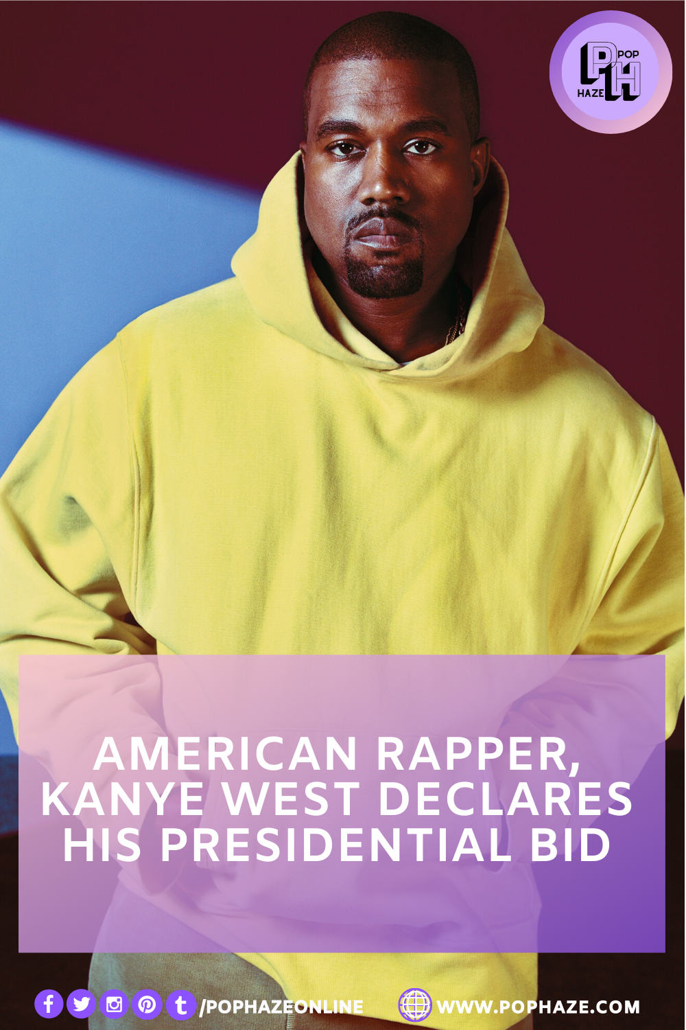 American Rapper Kanye West Declares His Presidential Bid In 2020 American Rappers Kanye West Rapper