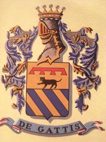 Arma della Famiglia De Gattis di Martirano, ramo calabrese dei Gatti, Nobili Patrizi di Viterbo