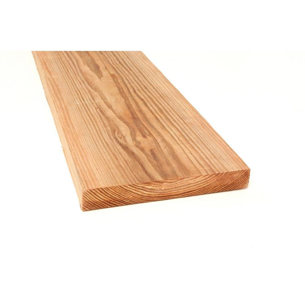 2 In X 12 In X 8 Ft 2 Prime Cedar Tone Lumber Home Depot Cedar