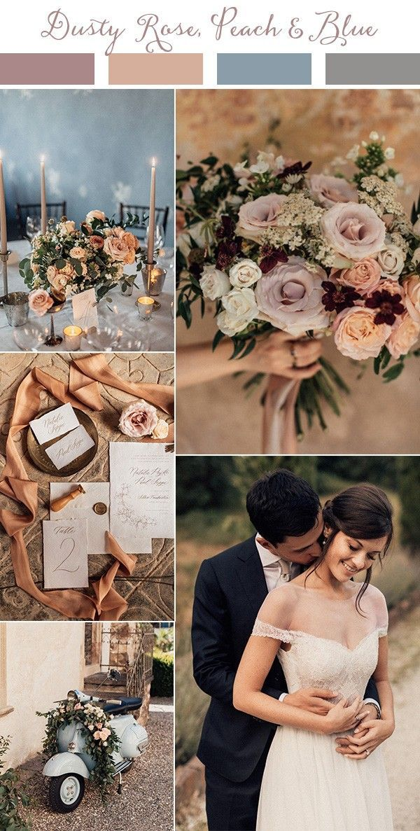 Wedding Trends-Top 10 Wedding Colors Ideas for 2019 #peachideas