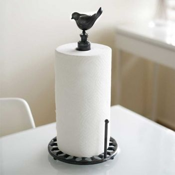 Unique Paper Towel Holders Swallow Paper Towel Holder  A Swallow Finial Gives This Wrought