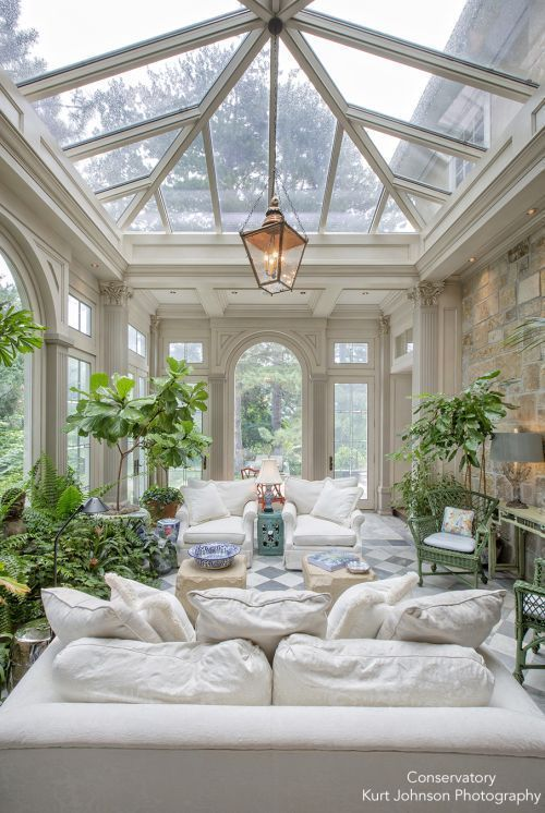 Sunroom Inspired By Conservatories Blue And White Home