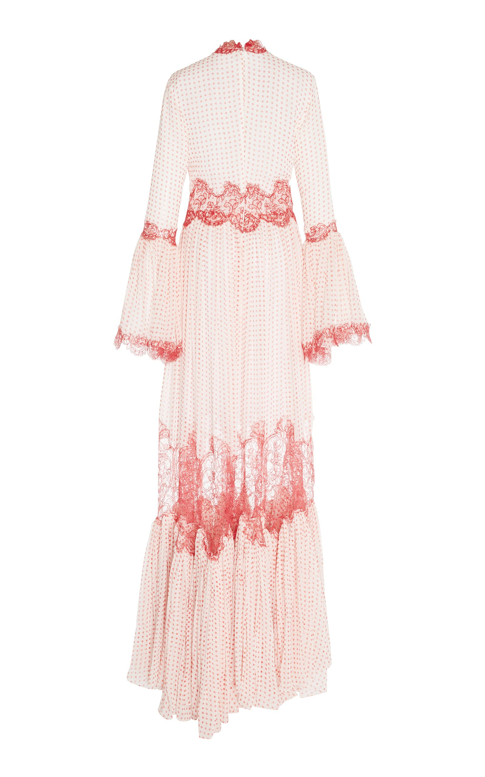 Bell Sleeve Long Dress Costarellos Order 2018 New Cheap Online Free Shipping With Paypal h5LMdMi1