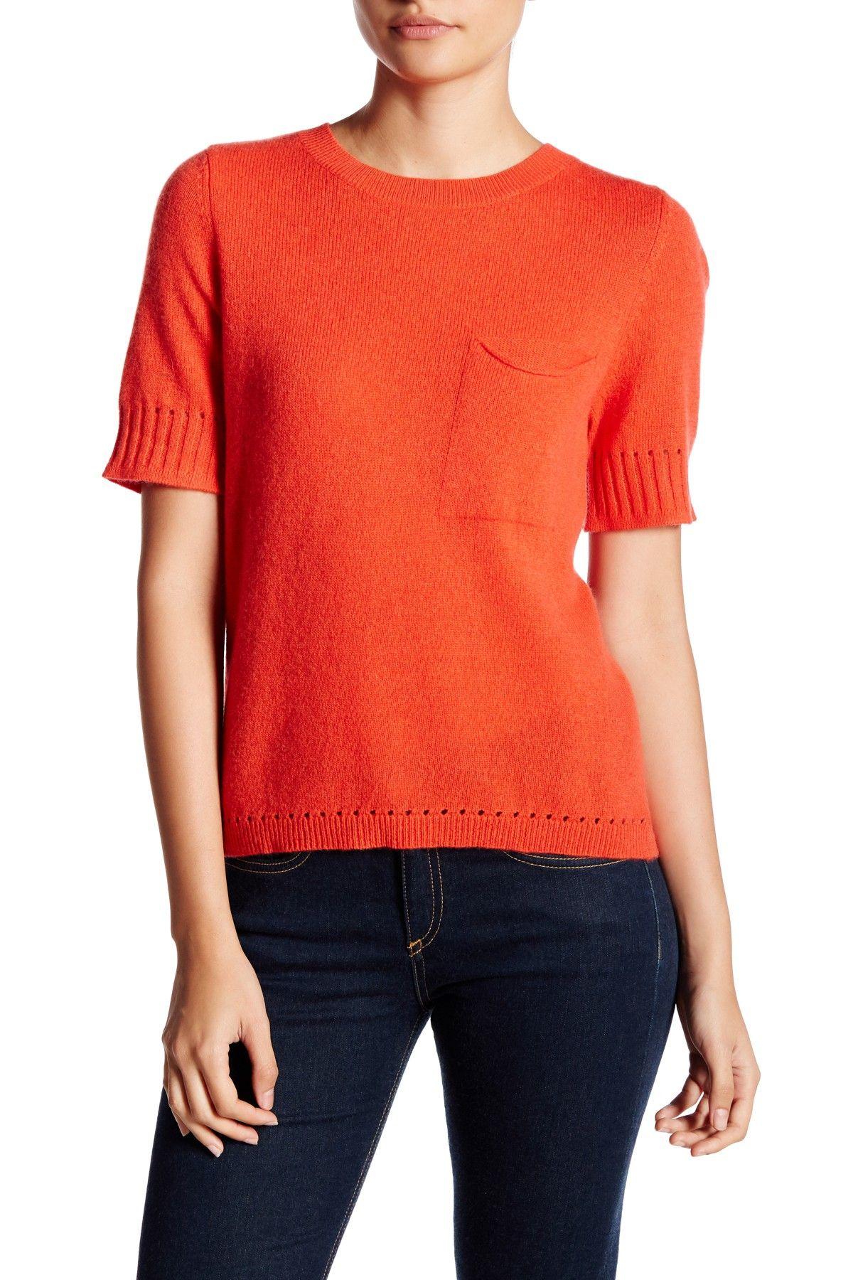 Short Sleeve Pocket Cashmere Sweater (Petite) | Shorts, Shops and ...