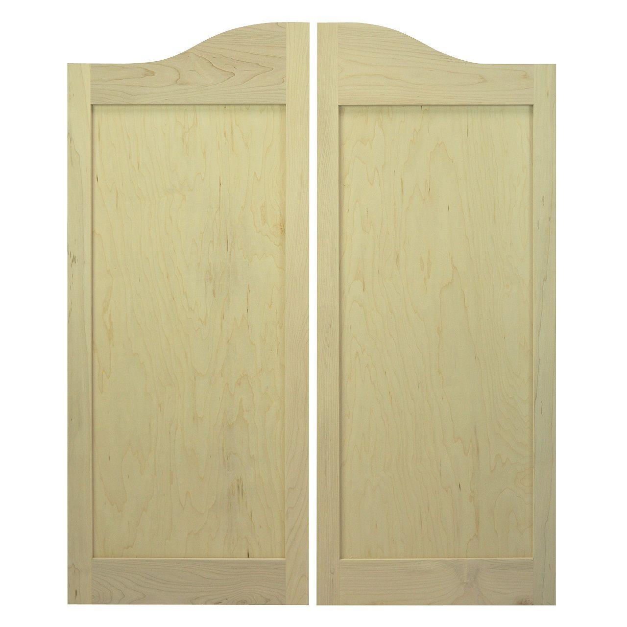 Classic Arch Top Flat Panel Saloon Doors Swinging Cafe Doors Cafe Door Shaker Style Modern Cafe